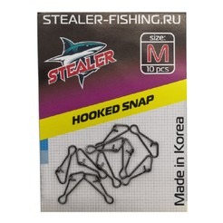 Карабин STEALER HOOKED SNAP M (10 шт.)